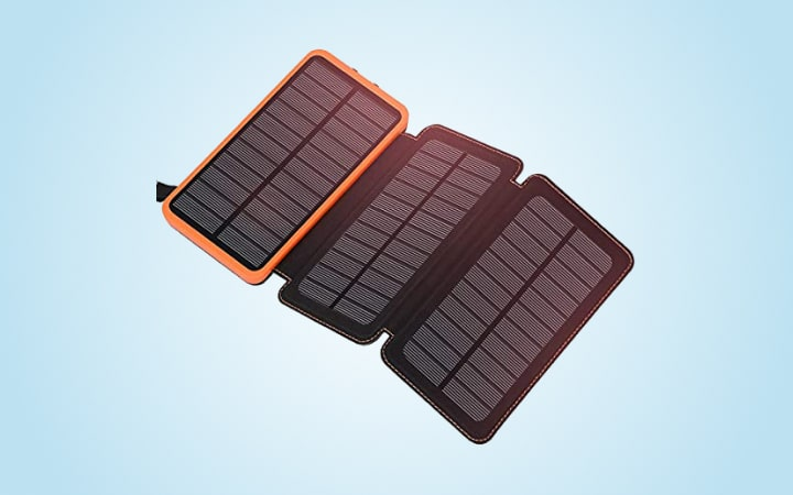 Addtoop Solar Charger 2500mAh Portable Solar Power Bank
