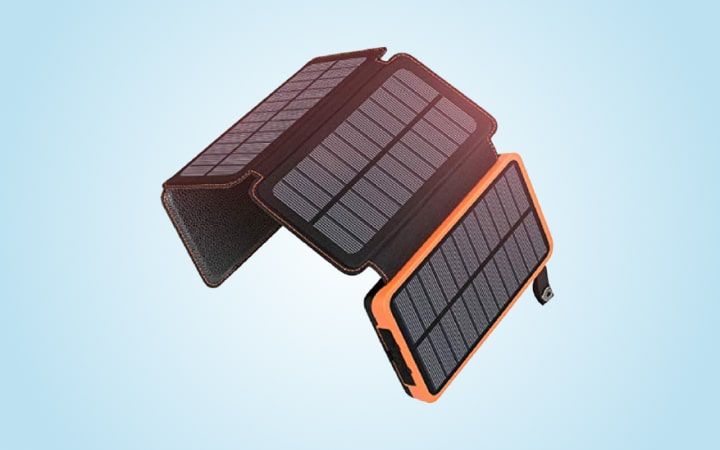Riapow Wireless Solar Charger 26800mAh, Portable Charger