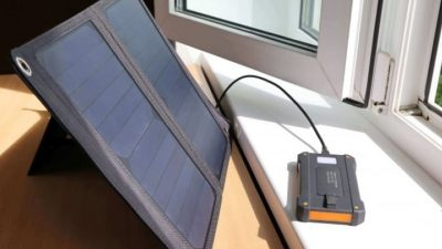 Solar panel battery bank