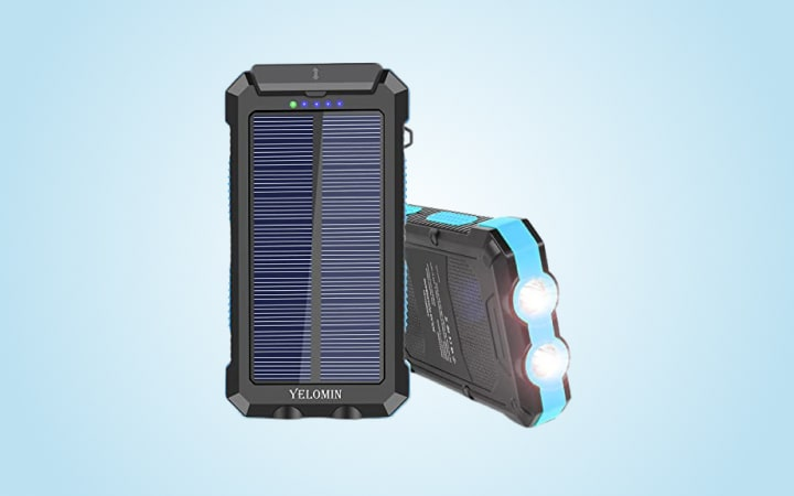 Yelomin Solar Power Bank 20000mAh